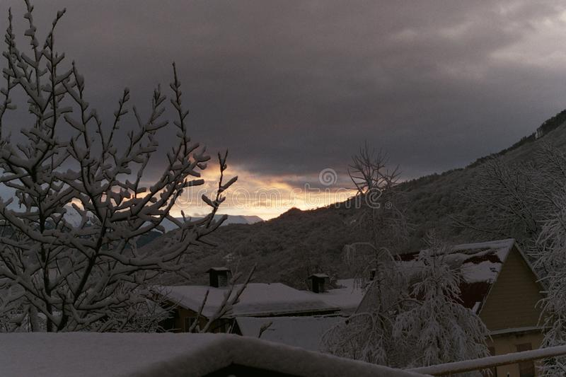 Berge in Sochi stockbild