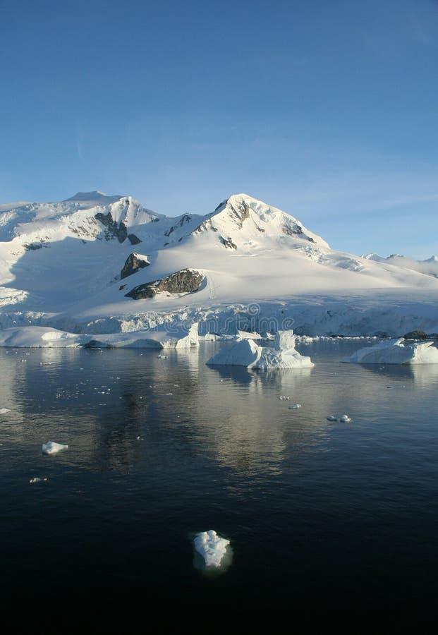 Berge u. Gletscher reflektiert stockbild