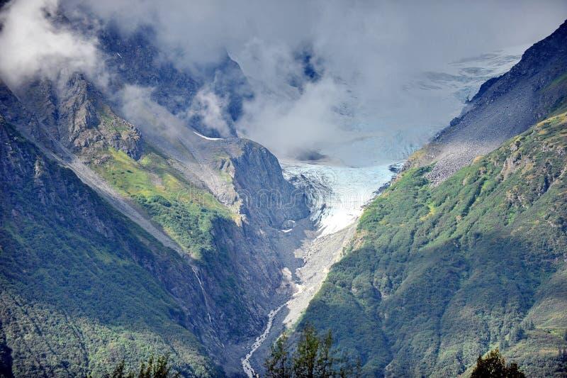 Berge und Gletscher von Alaska lizenzfreies stockbild