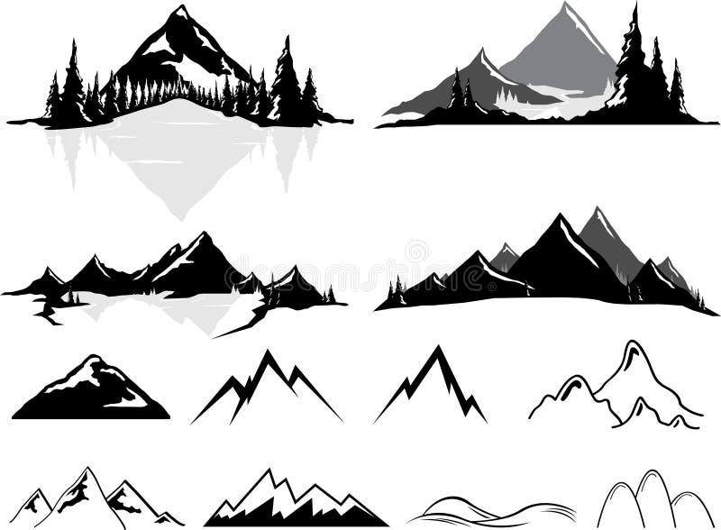 Berge und Hügel, realistisch oder stilisiert stockfotografie