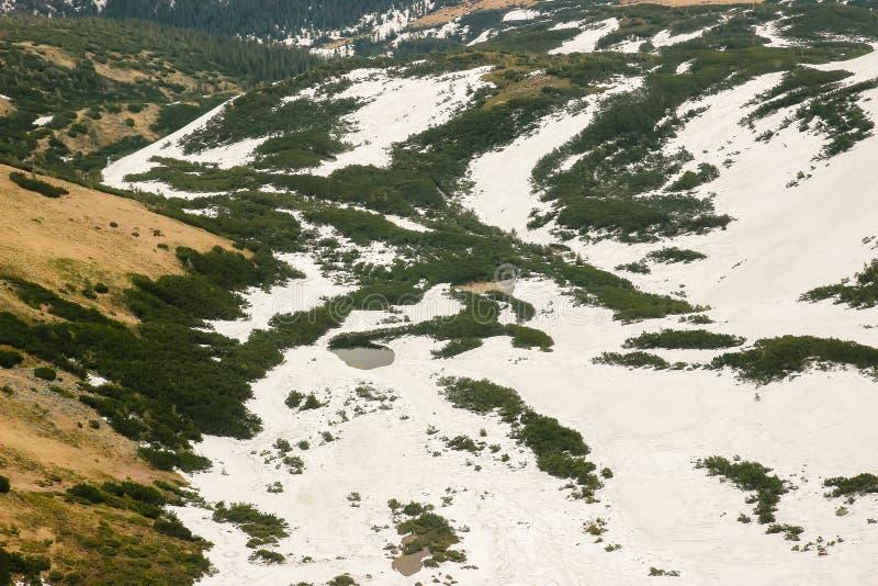 Berge und Schluchtvogelperspektive lizenzfreies stockbild