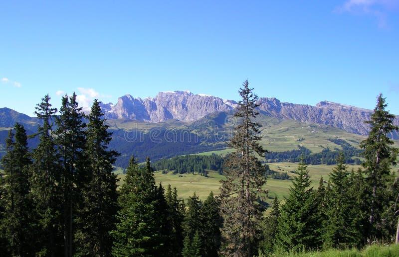 Berge in Val Gardena lizenzfreie stockbilder
