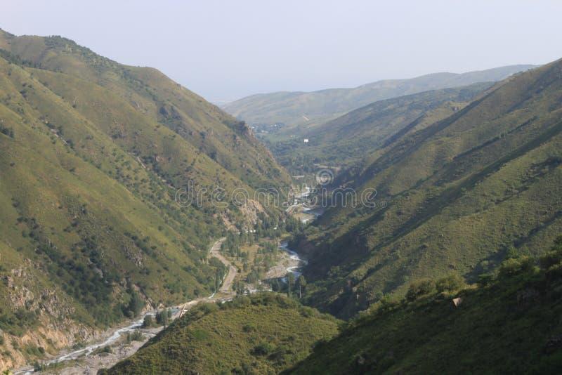 Berge von Kasachstan stockfotos