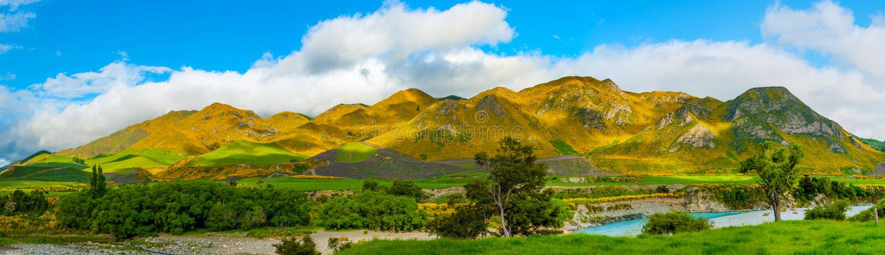 Berge von Neuseeland stockfotos