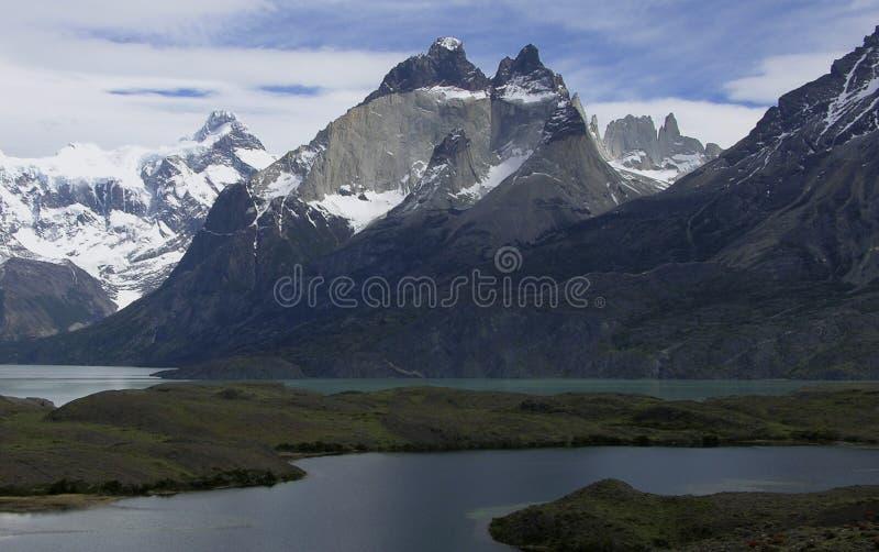 Berge von Tierra del Fuego stockbild