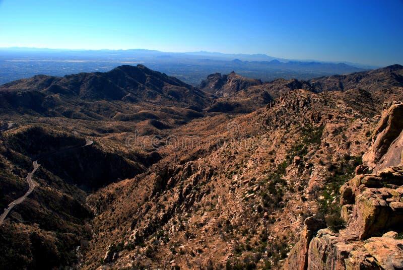 Berge von Tucson stockfotos