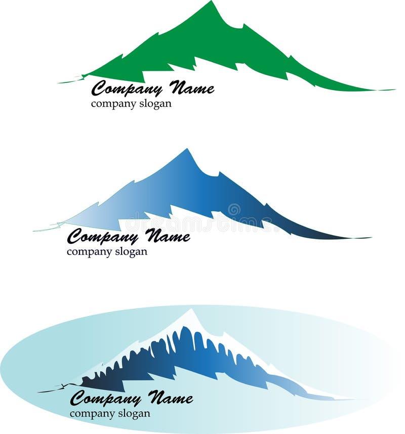 Bergemblemen vector illustratie