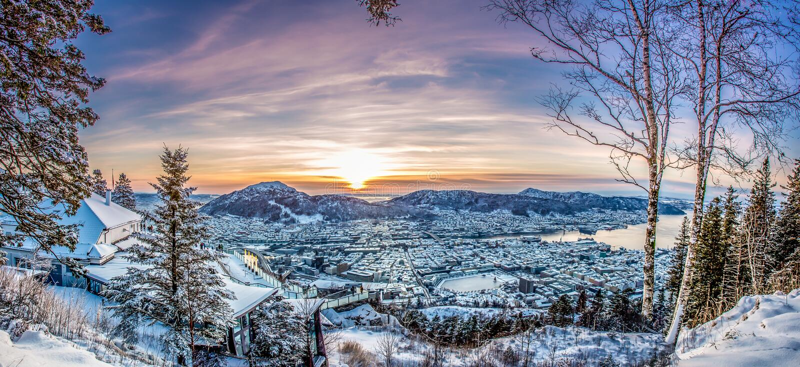 bergen Норвегия стоковые фотографии rf