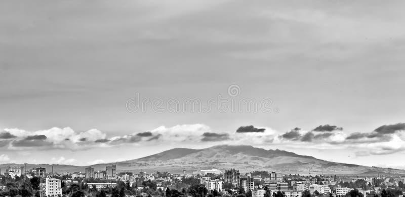 Bergen achter Addis royalty-vrije stock foto