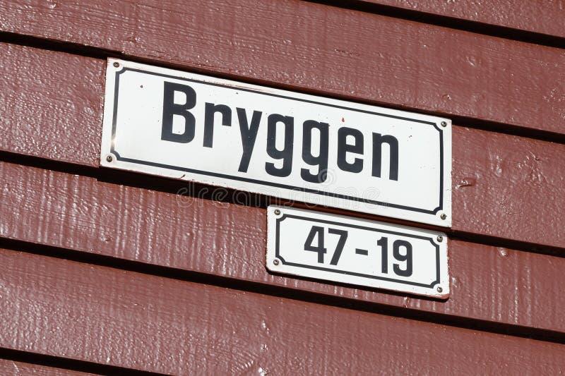 Bergen Address Plate immagini stock libere da diritti