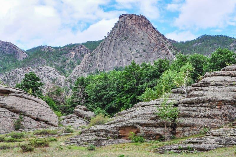 bergen in bayanaul royalty-vrije stock afbeeldingen
