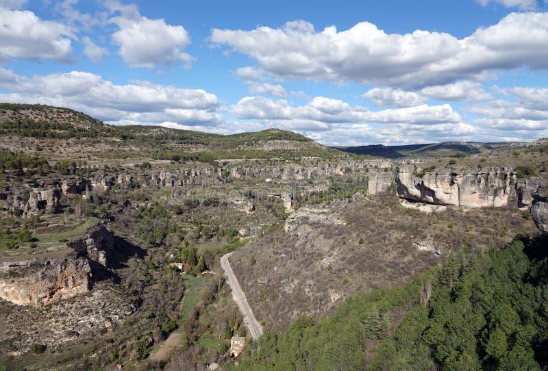 Bergen bij Gezichtspunt van Cuenca stad in Spanje royalty-vrije stock fotografie