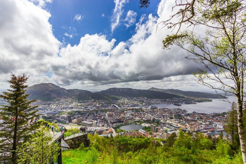 Bergen City, Noruega imagem de stock royalty free
