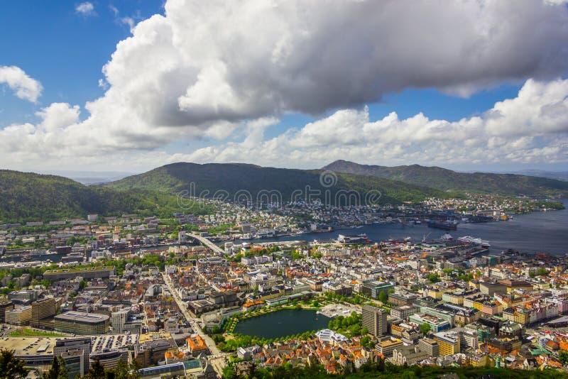 Bergen City, Noruega fotografia de stock