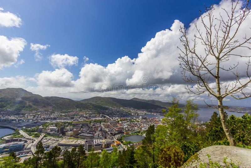 Bergen City, Noruega imagem de stock