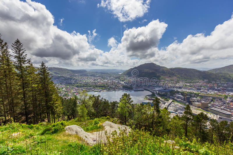 Bergen City, Noruega fotografia de stock royalty free