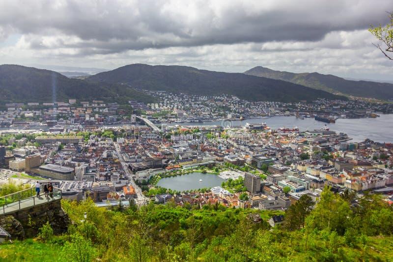 Bergen City, Noruega imagens de stock royalty free