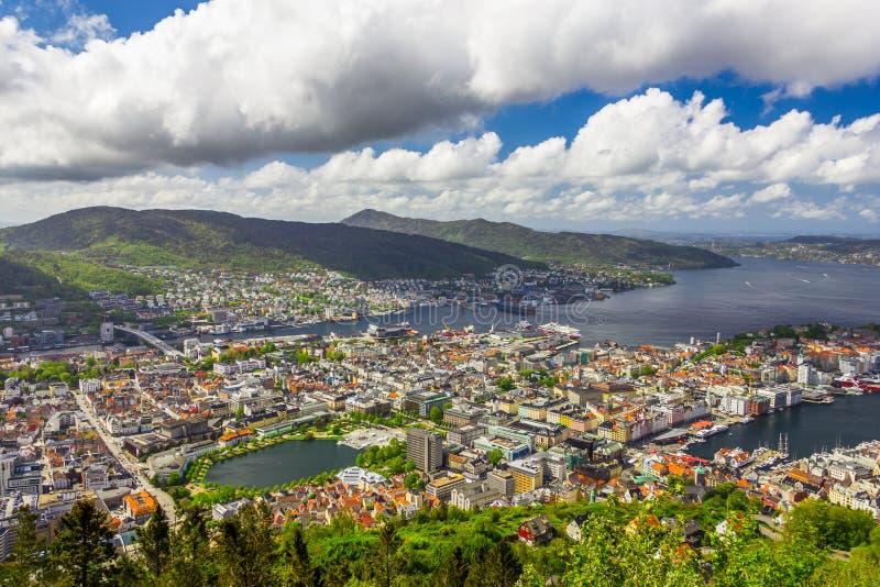 Bergen City, Noruega fotografia de stock royalty free
