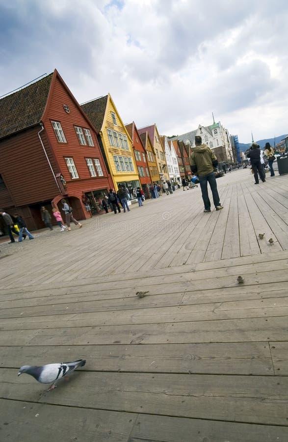 Bergen, ciudad de la UNESCO. foto de archivo