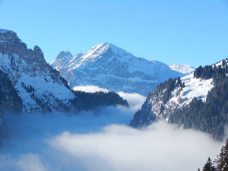 Bergen in de Franse Alpen stock afbeeldingen