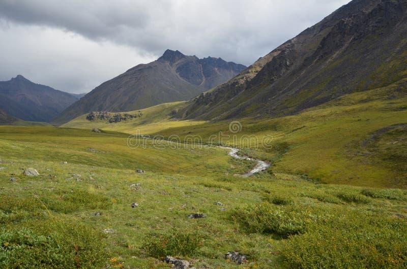 Bergen en de Vallei van de Rivier royalty-vrije stock afbeelding
