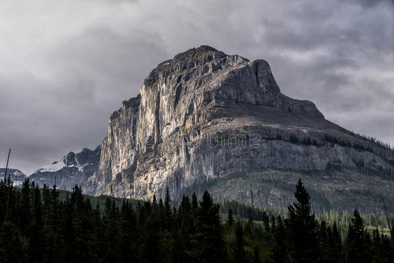 Bergen en gletsjers in de bergen van Alberta, Canada royalty-vrije stock foto