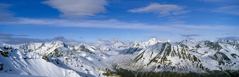 Bergen en gletsjers in wrangell-St Elias National Park, Alaska royalty-vrije stock fotografie