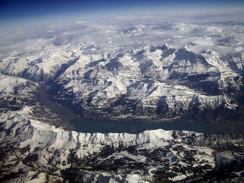Bergen en Rivier stock foto
