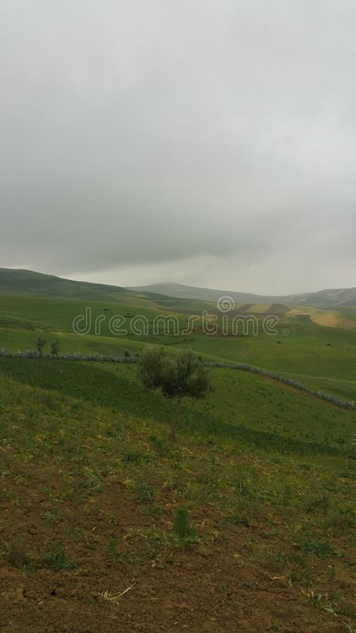 Bergen en stadsgebied fes, Marokko stock foto's