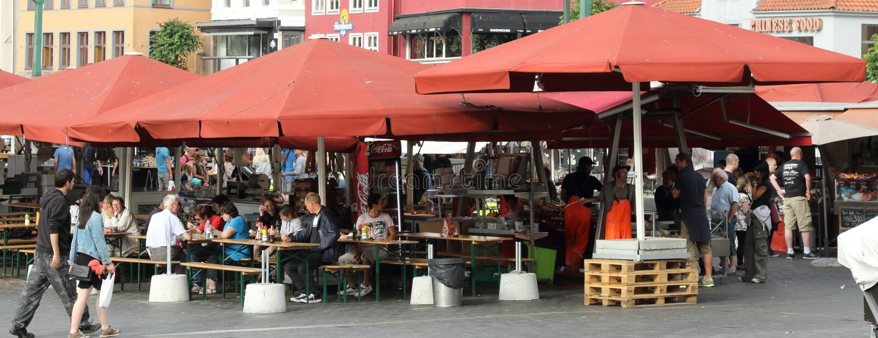 Bergen Fish Market immagine stock
