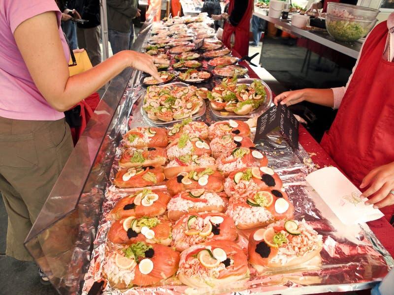 Bergen Fishmarket fotografia stock