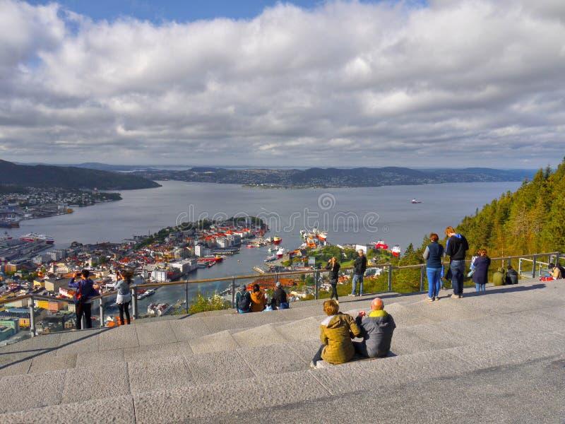 Bergen, Floyen widok, Norwegia zdjęcie stock