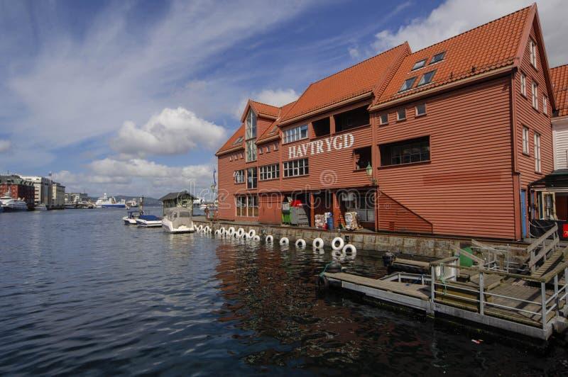 Bergen Harbour royaltyfria bilder