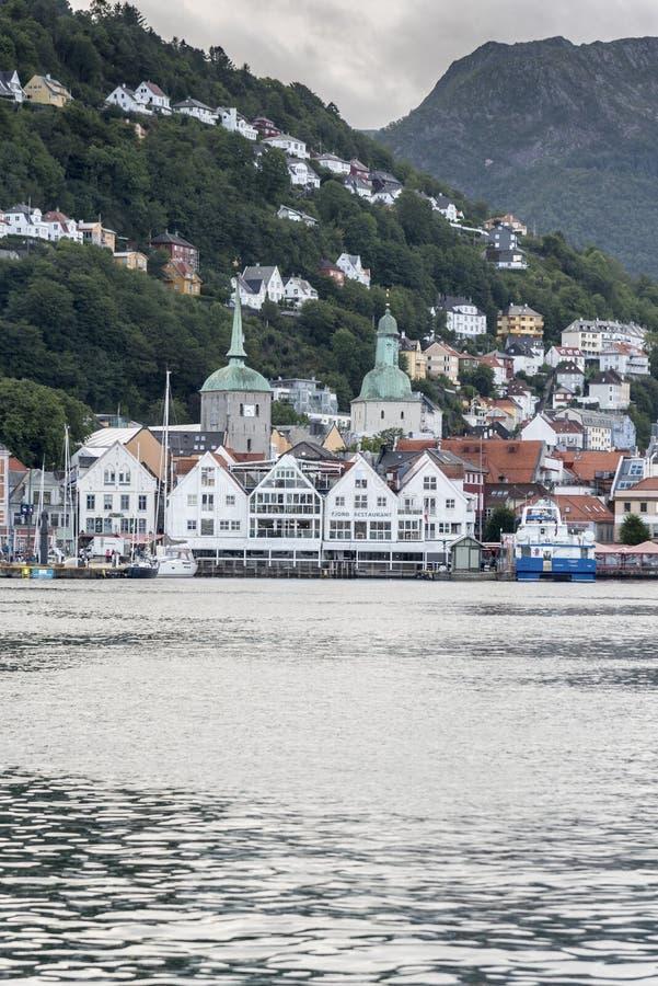 Bergen Haven Bergen Norway fotografia de stock