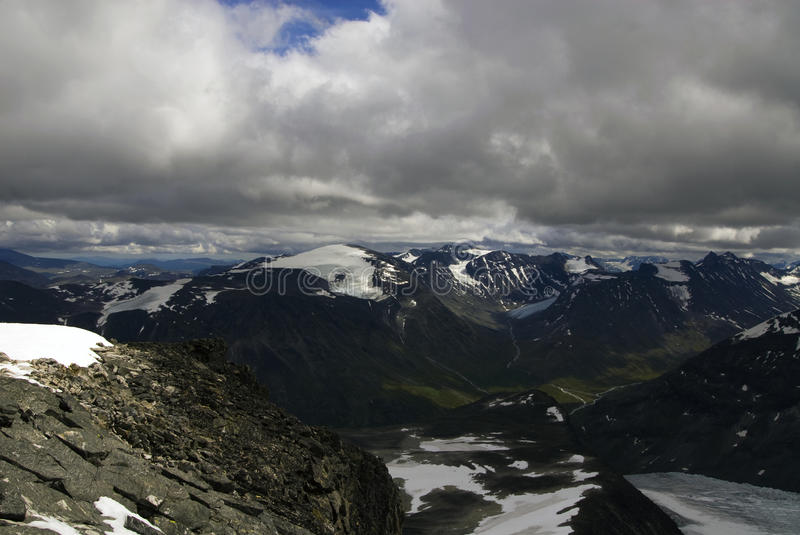 Bergen in Jotunheimen royalty-vrije stock foto