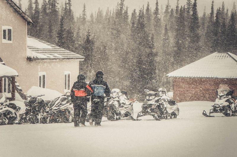 Bergen Khibiny, de winter van 2014 royalty-vrije stock foto's