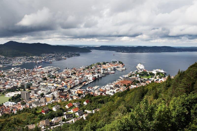 bergen miasto Norway oastal zdjęcie stock