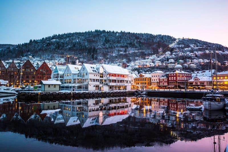 Bergen no Natal foto de stock royalty free