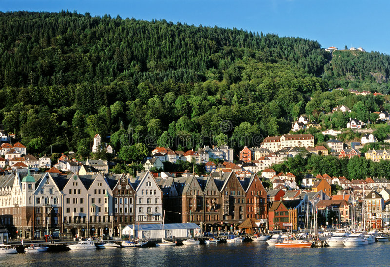 Bergen, Noruega, puerto foto de archivo