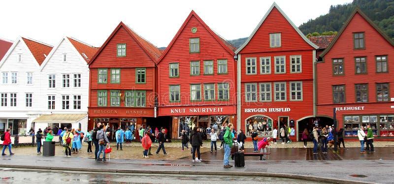 Bergen, Norvège ses toits de caractéristique images stock