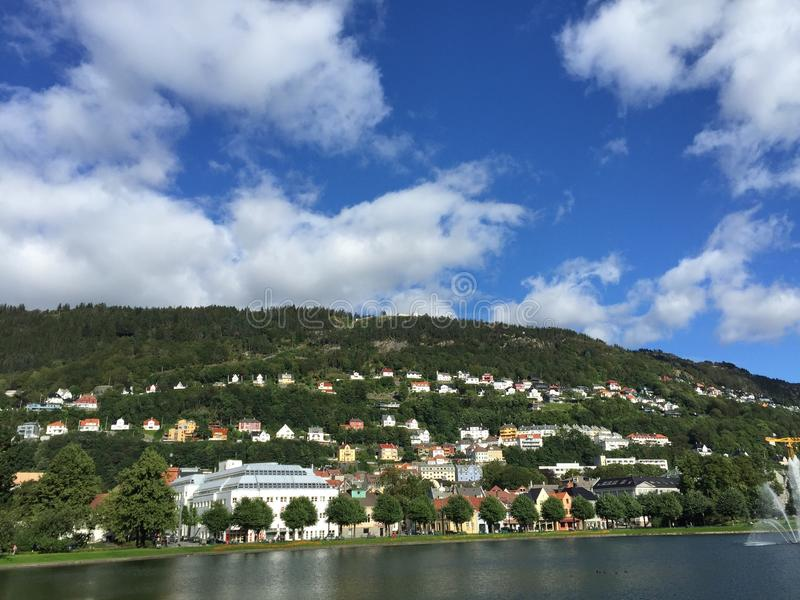 Bergen Norvegia fotografie stock