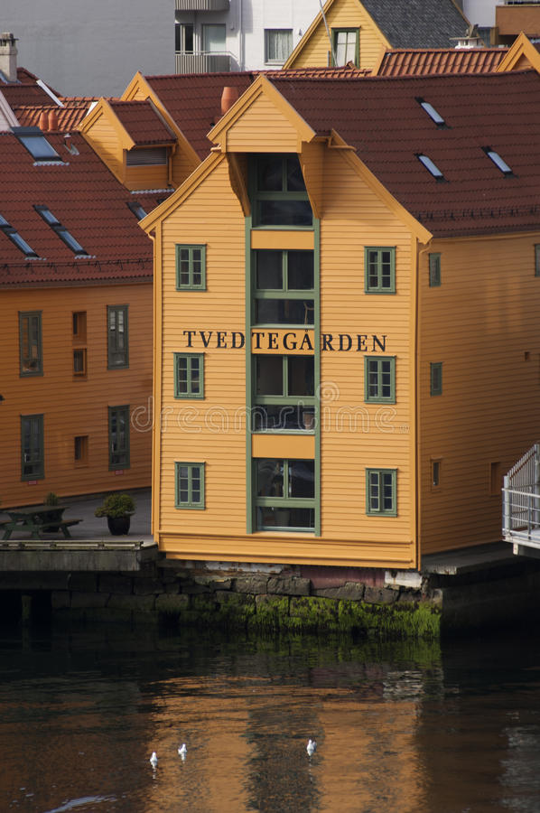 BERGEN/NORWAY - 21 Ιουνίου 2007 - παράβλεψη αποθηκών εμπορευμάτων στοκ εικόνες