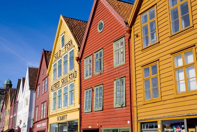 Bergen, Norway. Old town of Bergen, Norway royalty free stock images