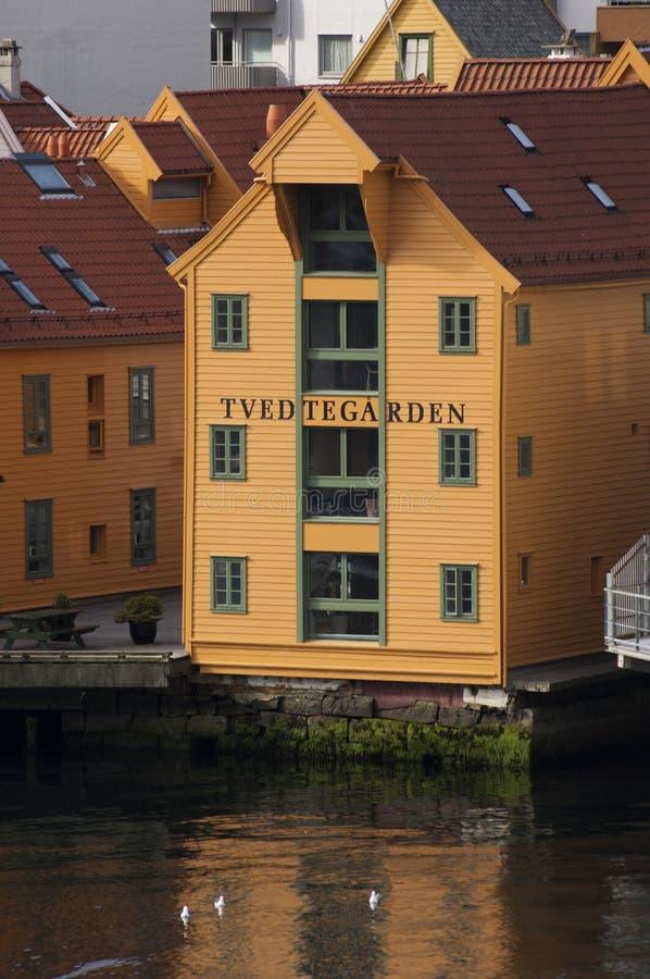 BERGEN/NORWAY - 21ST JUNI 2007 - het Omgezette pakhuis overzien stock afbeeldingen
