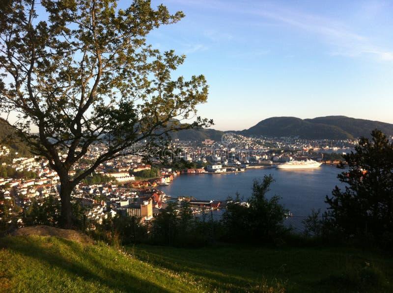 Bergen Norwegen stockbild