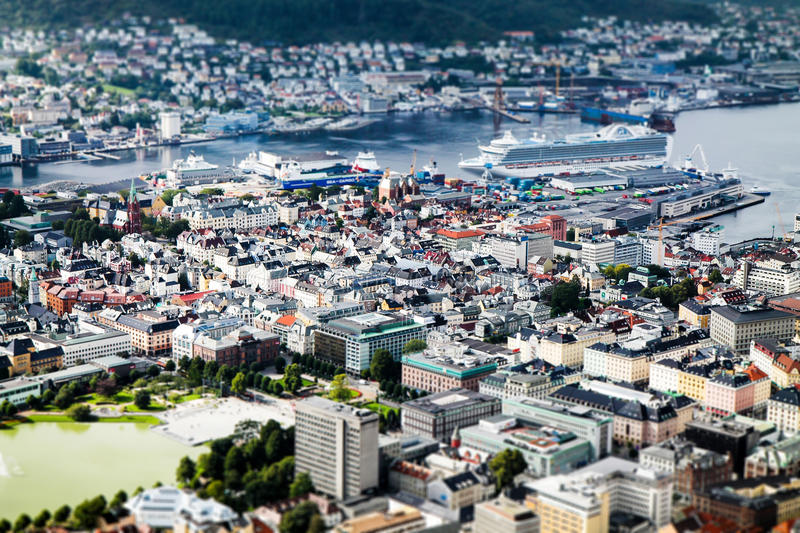 Bergen in a nutshell royalty free stock photography