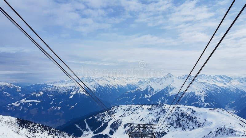 Bergen in Oostenrijk Mayrhofen in Zillertal stock foto
