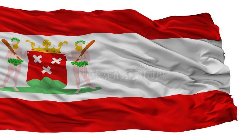 Bergen Op Zoom City Flag, die Niederlande, lokalisiert auf weißem Hintergrund stock abbildung
