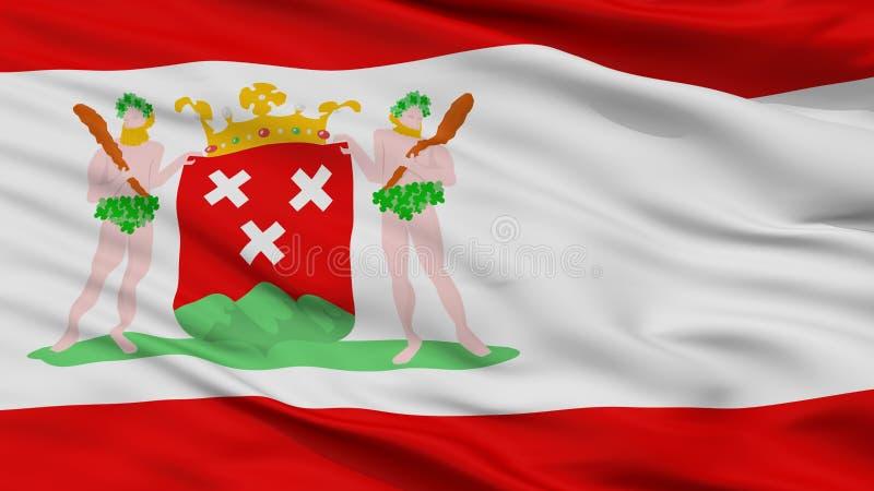 Bergen Op Zoom City Flag, die Niederlande, Nahaufnahme-Ansicht stock abbildung