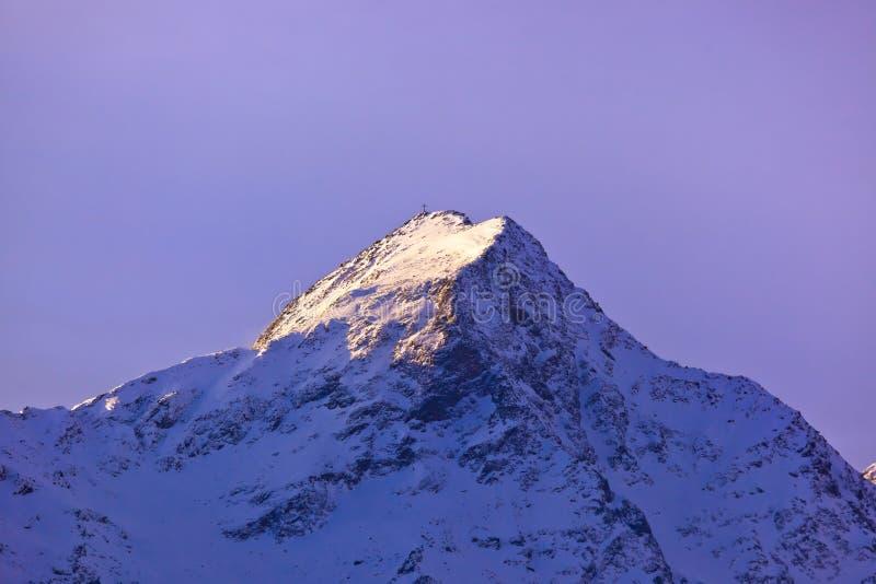 Bergen - skitoevlucht Solden Oostenrijk stock afbeeldingen